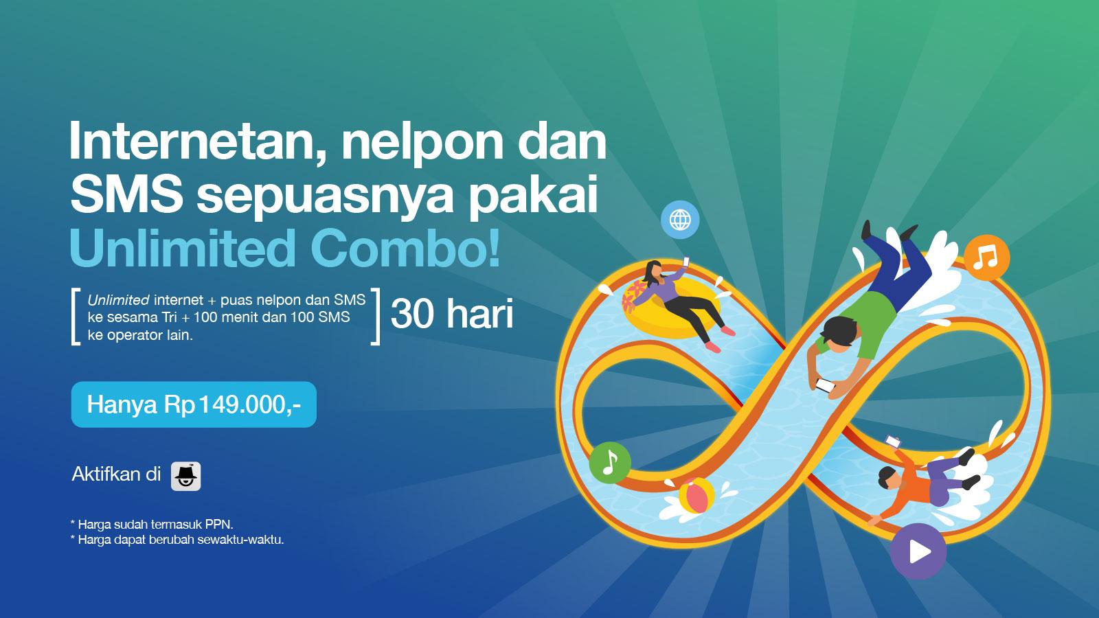 Unlimited Combo Tri Indonesia